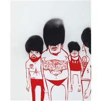 untitled (5 men) by barry mcgee