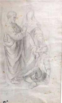 saint pierre guérissant le paralytique, d'après raphaël by edgar degas