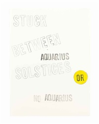 caught between solstices by lawrence weiner