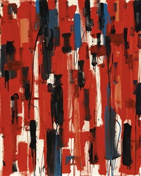 red painting: april by patrick heron