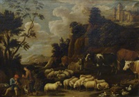 scène pastorale by david teniers the elder