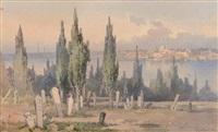 vue d'anatolie avec un cimetière by angelos giallina