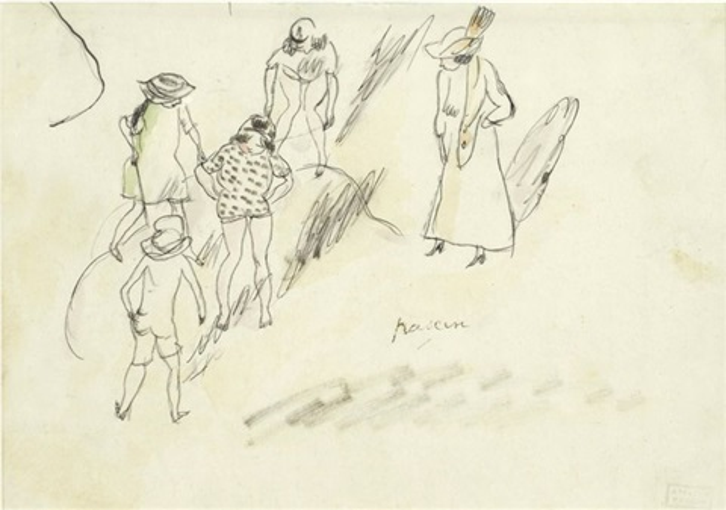enfants jouant by jules pascin