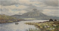 errigal mountain from dunlewey lake, co donegal by william h. burns