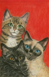 the big book of cats, original cover art by gladys emerson cook