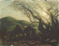 landscape with good samaritan by richard ziegler