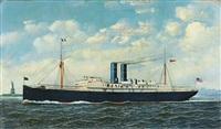 steamship merida in new york harbor by antonio jacobsen