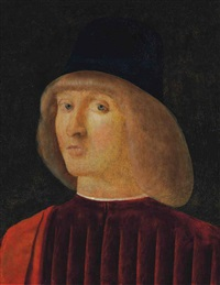 portrait of a man, bust-length by giovanni bellini