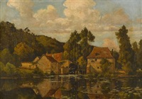 the old water mill by henri linguet