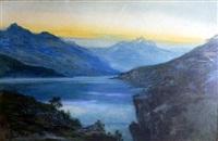 view to cradle mountain, tasmania by william joseph wadham
