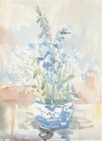untitled - still life fall flowers by bruno joseph bobak