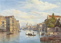 the grand canal and the basilica of santa maria della salute, venice by salomon corrodi