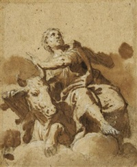 saint luc by benedetto caliari