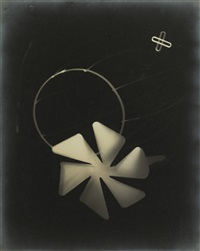 photogram with pinwheel and other shapes by lászló moholy-nagy