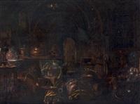intérieur de cuisine aux cuivres by giovanni domenico valentino