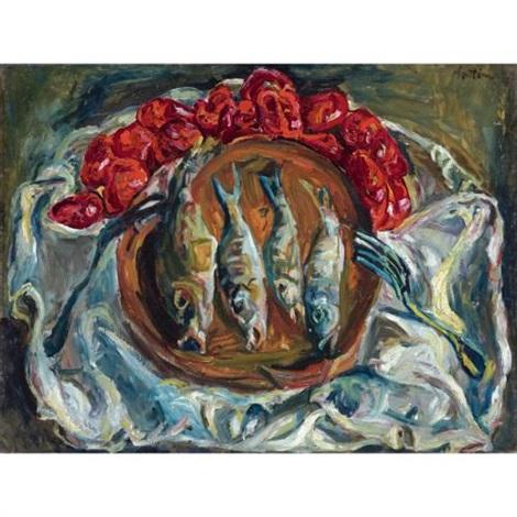 poissons et tomates by chaïm soutine