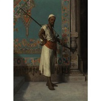 egyptian with his rifle by francesco beda