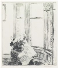 the bay window by edward hopper