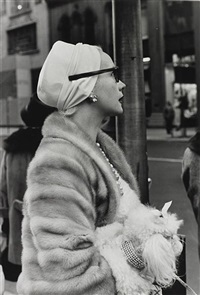 woman on 5th avenue, new york city, november by larry fink