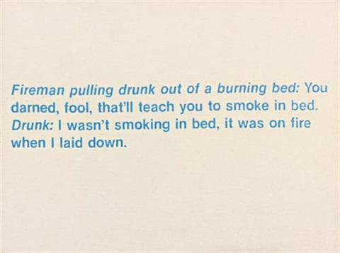 untitled fireman joke by richard prince
