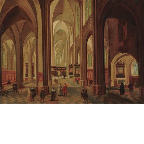flemish church interior by peeter neeffs the elder
