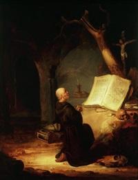 un moine ermite en prière by jacob van spreeuwen