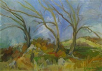 landscape with trees by sabina negulescu florian