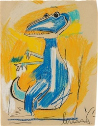 untitled (dinosaur) by jean-michel basquiat
