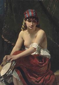 the tambourine player by anthony reynier