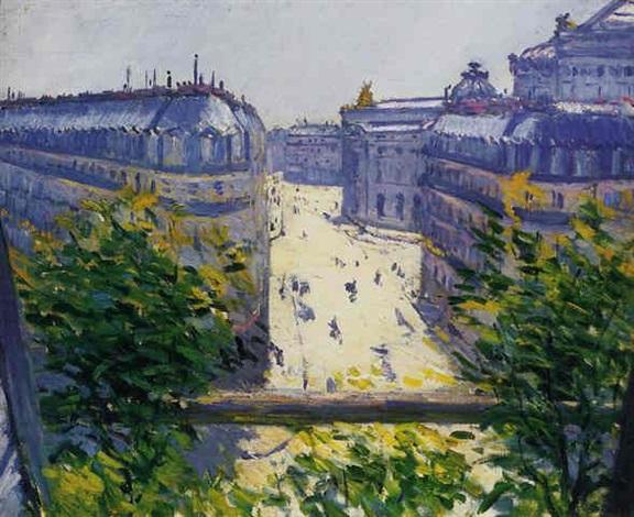 la rue halévy vu dun balcon by gustave caillebotte