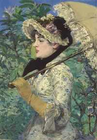 le printemps by édouard manet
