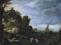 le christ et saint pierre marchant sur les eaux by paul bril