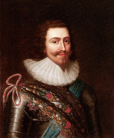 portrait of george villiers 1st duke of buckingham wearing armour with the order of the garter by balthazar gerbier douvilly