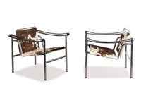 zwei armlehnsessel lc 1 by le corbusier, charlotte perriand and pierre jeanneret