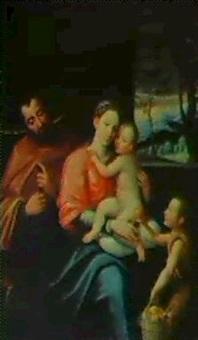 la sagrada familia con san juanito by juan (fray) sanchez y cotan