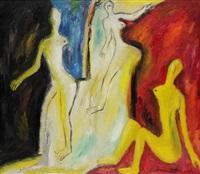 trois femmes by evgeni dybsky