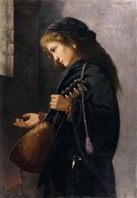 la joueuse de mandoline by angelo d' agata