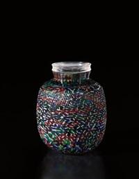 unique lidded vase, model no. 1, from the 'foglie di ninfee' series by yoichi ohira
