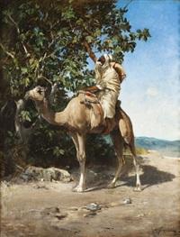chamelier cueillant des figues by victor pierre huguet