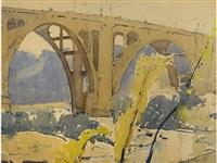 bridge over the arroyo seco by millard sheets