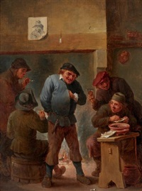 scène de taverne by david ryckaert iii