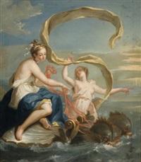 le triomphe de galatée by noël nicolas coypel