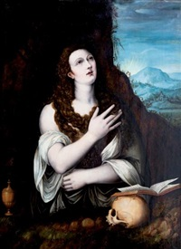 marie madeleine by titian (tiziano vecelli)