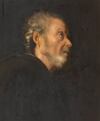 head of a bearded man by jan lievens
