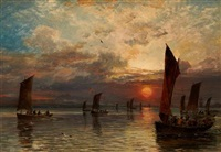 the departure of the fleet by samuel bough