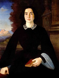 the portrait of penelope deligiorghis - drossini by francesco pige