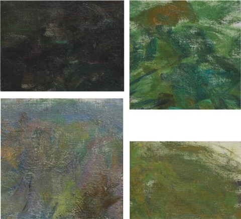 reflections, four fragments of nymphéas (4 works) by claude monet