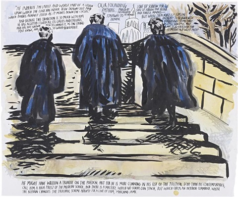 untitled he inherits the latest by raymond pettibon