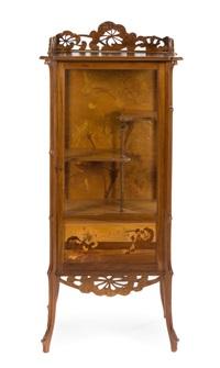 marquetry vitrine by émile gallé