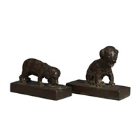 two puppies (pair) by edith barretto stevens parsons